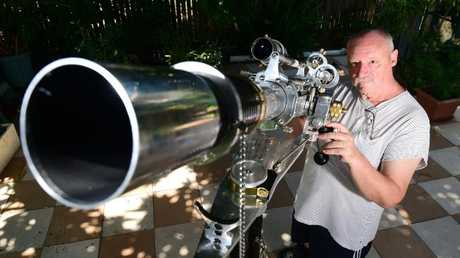 Charles Mitchard will be watching the events with his homemade refracting telescope.