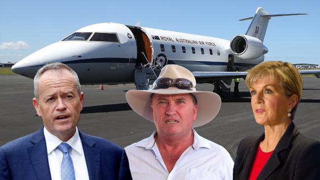 Opposition Leader Bill Shorten, Deputy Prime Minister Barnaby Joyce and Foreign Minister Julie Bishop have all billed taxpayers for flights.