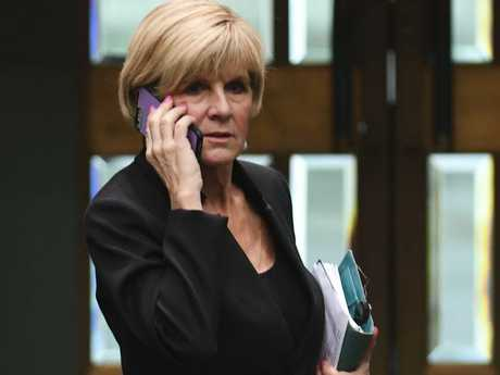 Foreign Minister Julie Bishop. Picture: AAP