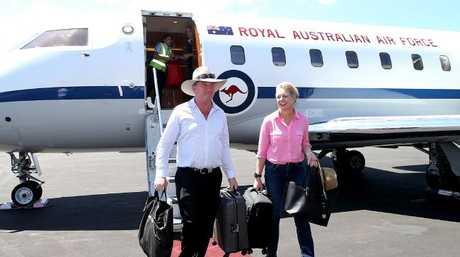 Deputy Prime Minister Barnaby Joyce and Nationals deputy leader Senator Bridget McKenzie. Picture Kym Smith