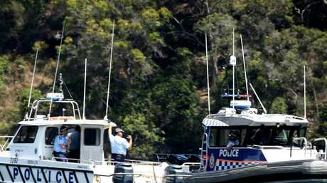The spot where the plane went into the water at Jerusalem Bay in the Hawkesbury. Picture: John Grainger