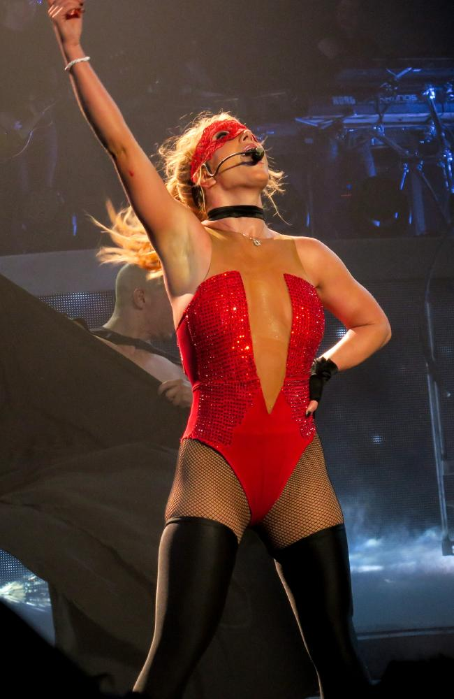 Britney Spears went through a multitude of costume changes. Picture: Splash News