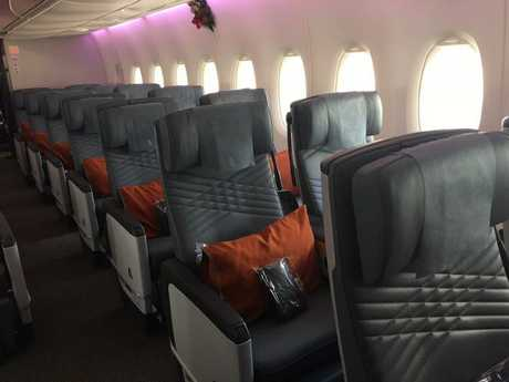 The pillows are a highlight of premium economy.