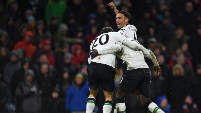 Liverpool leave it late Liverpool's Senegalese midfielder Sadio Mane (R) celebrates