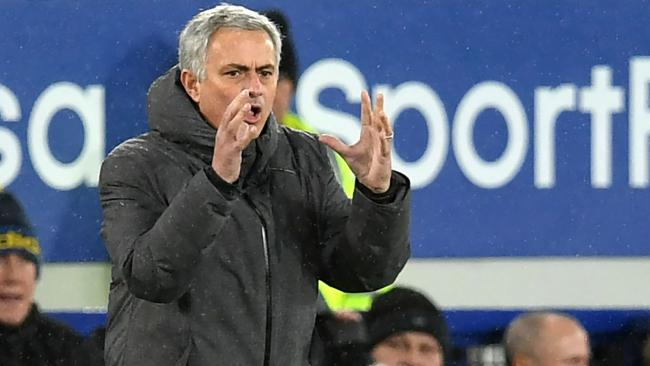 Manchester United's Portuguese manager Jose Mourinho.