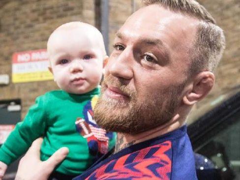 Conor McGregor with Conor Jnr.