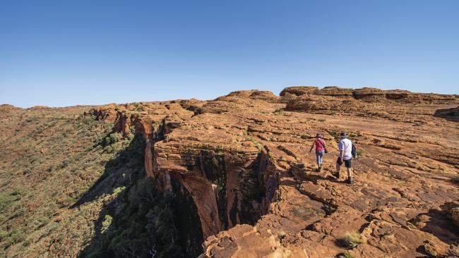 A man was killed by lightning while hiking the Rim Walk around Kings Canyon, pictured above. PICTURE: Supplied