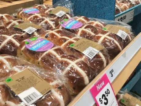 Woolworths' new Brioche Style hot cross bun goes on sale today. Picture: Supplied
