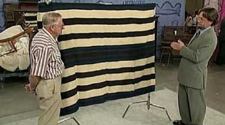 Loren Krytzer saw this episode of Antiques Roadshow, where this particular blanket was valued at $650,000. Picture: PBS