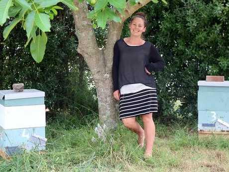 Honey galore right in Lydia's backyard. Photo/ Stuart Munro