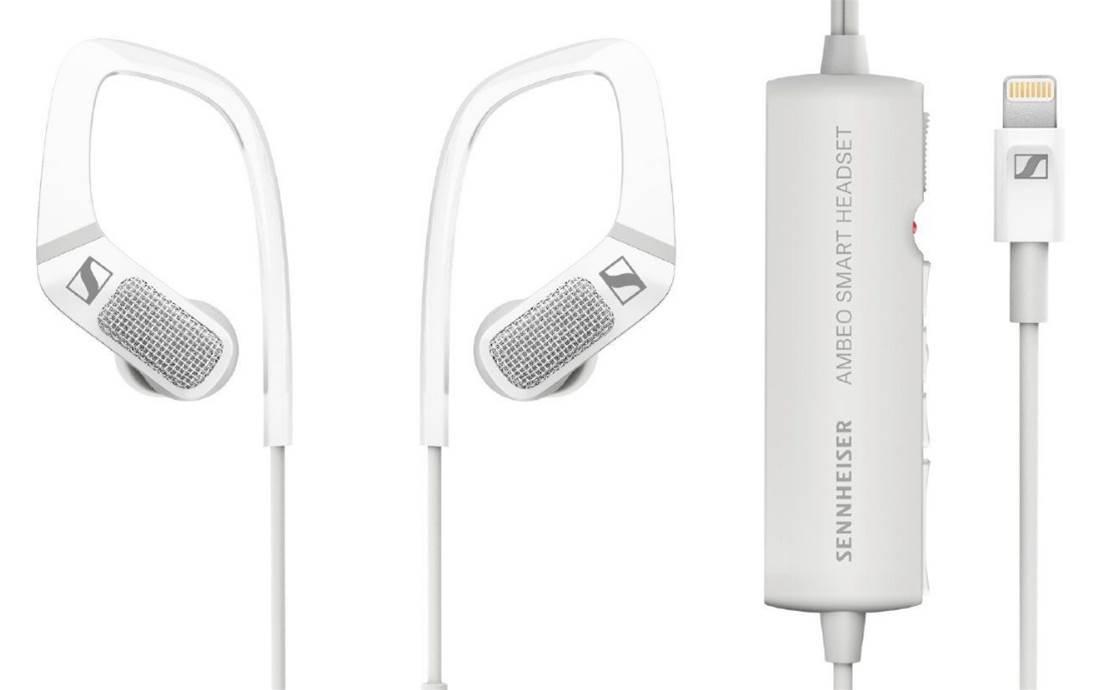 Sennheiser and Apogee's Ambeo Smart Headset features two microphones for 3D recording.