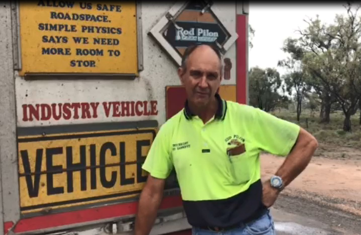 Truckie and road safety advocate Rod Hannifey.