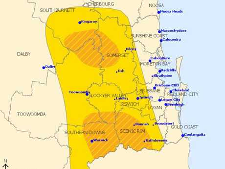 BOM have issued a severe thunderstorm warning for South East Queensland including flash flooding.