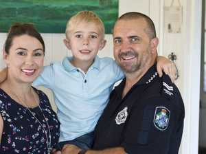 Dad's life saving gesture for son
