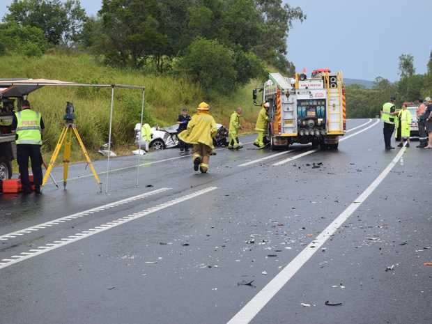 A crash north of Gympie has claimed the life of young male driver on the first day of the year.