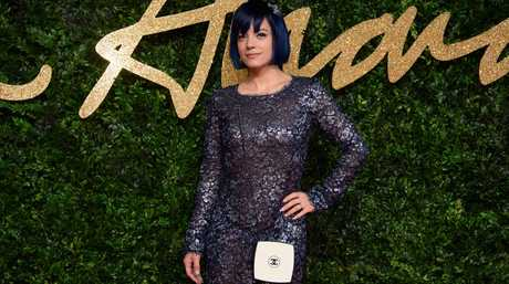 Lily Allen poses for photographers upon arrival at the British Fashion Awards 2015 in London, Monday, Nov. 23, 2015. (Photo by Jonathan Short/Invision/AP)