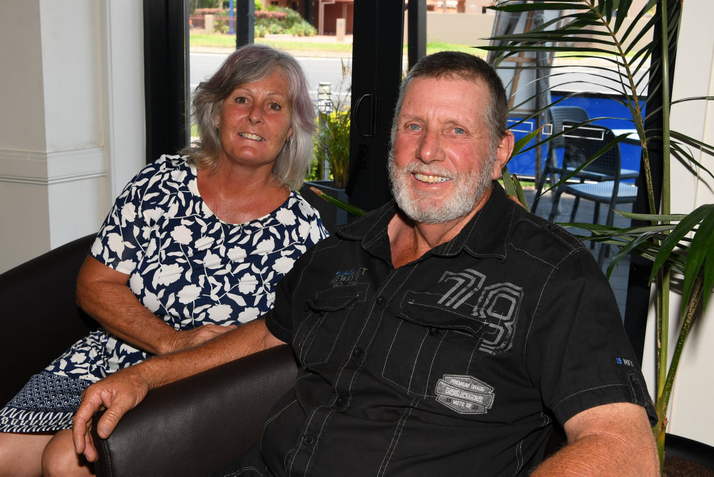 Image for sale: HOLIDAY SOCIALS: Lorraine and Steve Wilkinson at the Canecutter's Kitchen in Bourbong Street.
