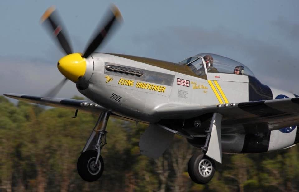 EXHILARATING: North American P 51D Mustang 'The Flying Undertaker' on show.