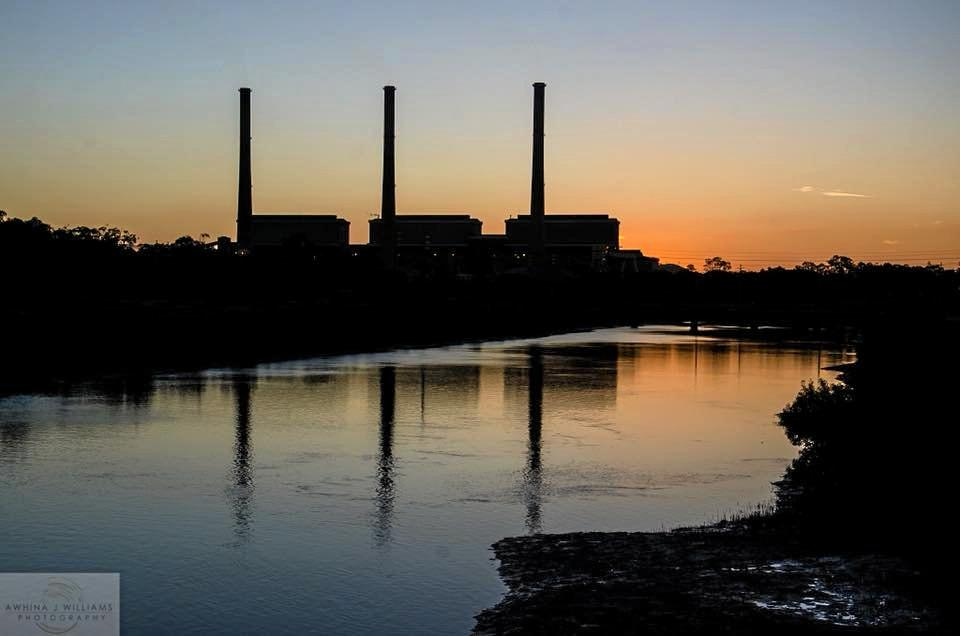 ICONIC: The Gladstone Power Station at sunset.