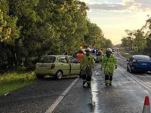 VIDEO: The moment two cars collide in Bruce Hwy crash