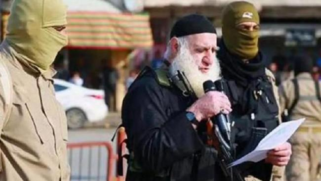 One of Islamic State's most feared executioners Abu Omer, aka White Beard, has been captured by Iraqi security forces. Picture: Supplied