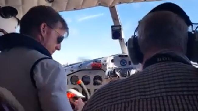 Seaplane footage