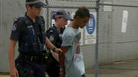 19-year-old Nathaniel James Murray is accused of murdering his father Roy Murray on January 1, 2018 at Palm Island. Photo: 9 News North Queensland