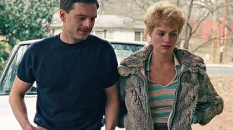 Sebastian Stan and Margot Robbie in I, Tonya. Picture: Supplied.