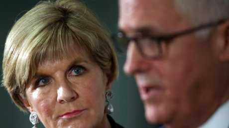 Prime Minister Malcolm Turnbull with Foreign Affairs Minister Julie Bishop. Picture: Gary Ramage