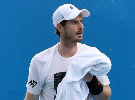 Andy Murray training in Brisbane last week.