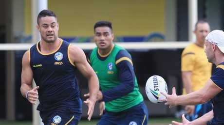 Hayne returned to Parramatta for the first time since 2014.