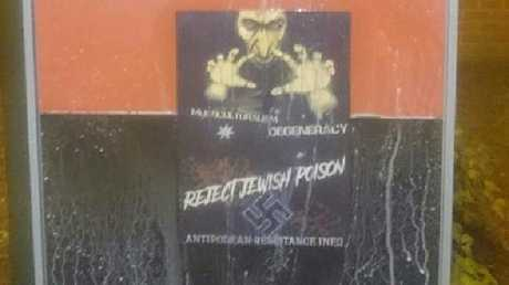 The recruitment posters were plastered around CSU's Bathurst campus over the Christmas break. Picture: Antipodean Resistance