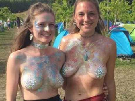 Madeline Anello-Kitzmiller, 20, from Portland, Oregon and her friend Kiri-Ann Hatfield have divided public opinion. Picture: Facebook