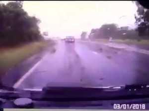 January 3 Bruce Hwy crash dashcam video