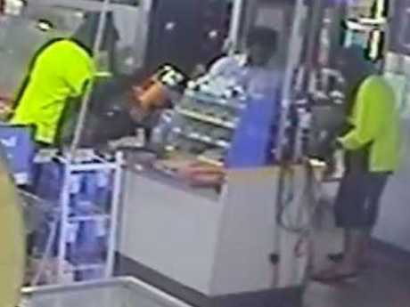 CCTV images of the armed robbery of a Gore Highway service station at Southbrook.