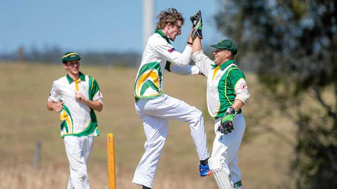 NEW ENERGY: Two new clubs, Kingaroy and Murgon, have provided some new life to the Gympie local A-grade competition. Anthony Brogden (pictured) celebrates a wicket with Wests.