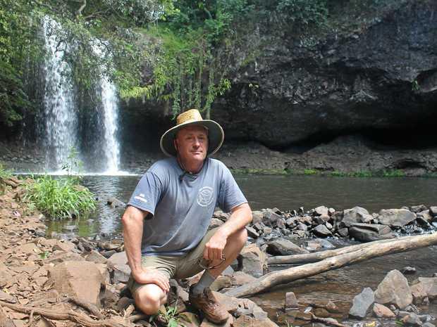 PARADISE BEING RUINED: David Bester, from Tintenbar, says the popularity of Killen Falls is becoming a hazard. Photo Graham Broadhead / Ballina Shire Advocate