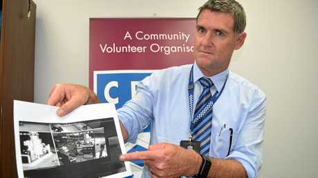 SPOTTED: Detective Snr Constable of Maryborough Crime Unit Glen Dehnert with an image from CCTV.
