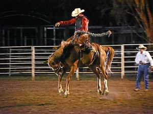 Hamilton takes to the saddle at New Year's Eve rodeo