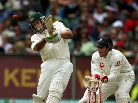 Symonds on his way to a maiden Test century in the Boxing Day Test, 2006.