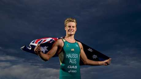 Mermaid Waters triathlete Matthew Hauser is pumped for a hometown Commonwealth Games. Photo: Jerad Williams