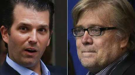 Steve Bannon, right, and Don Trump Jr, have long been sparring partners.