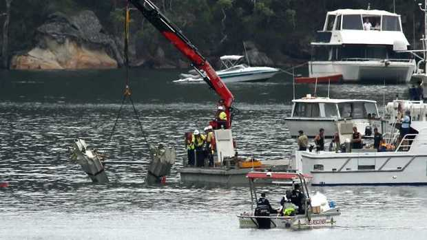 Recovery of the seaplane started at 6am today. Picture: John Grainger