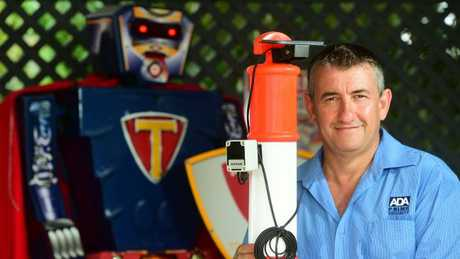 Amedeo Dinardo of ADA Prime Security owns a robot that is an educational and promotional tool about crime in Townsville.