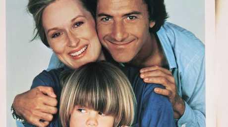 Meryl Streep and Dustin Hoffman with on-screen son Justin Henry in Kramer vs. Kramer