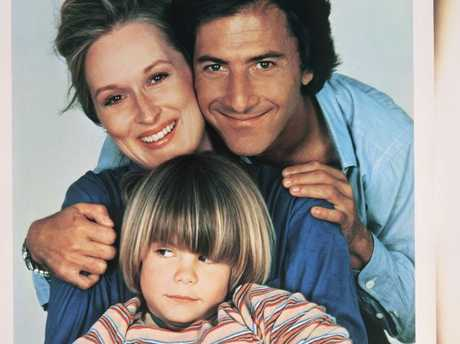 Meryl Streep and Dustin Hoffman with on-screen son Justin Henry in Kramer vs. Kramer