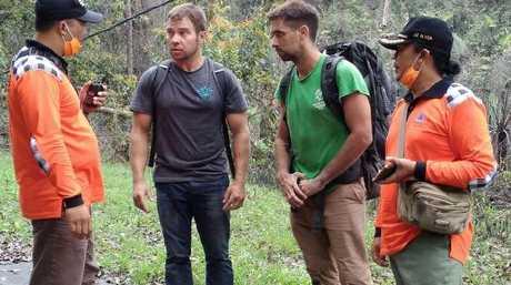 Ricky Tonacia and Jack Dennard attempted to climb the Mt Agung volcano.