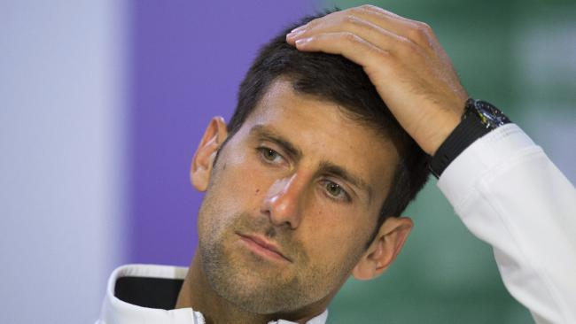 Novak Djokovic was not happy after the win.