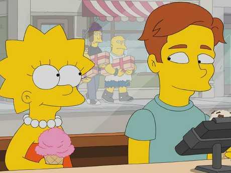 Lisa Simpson and 'Brendan' ... aka Ed Sheeran. Picture: FOX