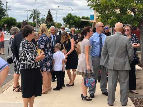 Family arriving at Lady Florence Bjelke-Petersen's state funeral